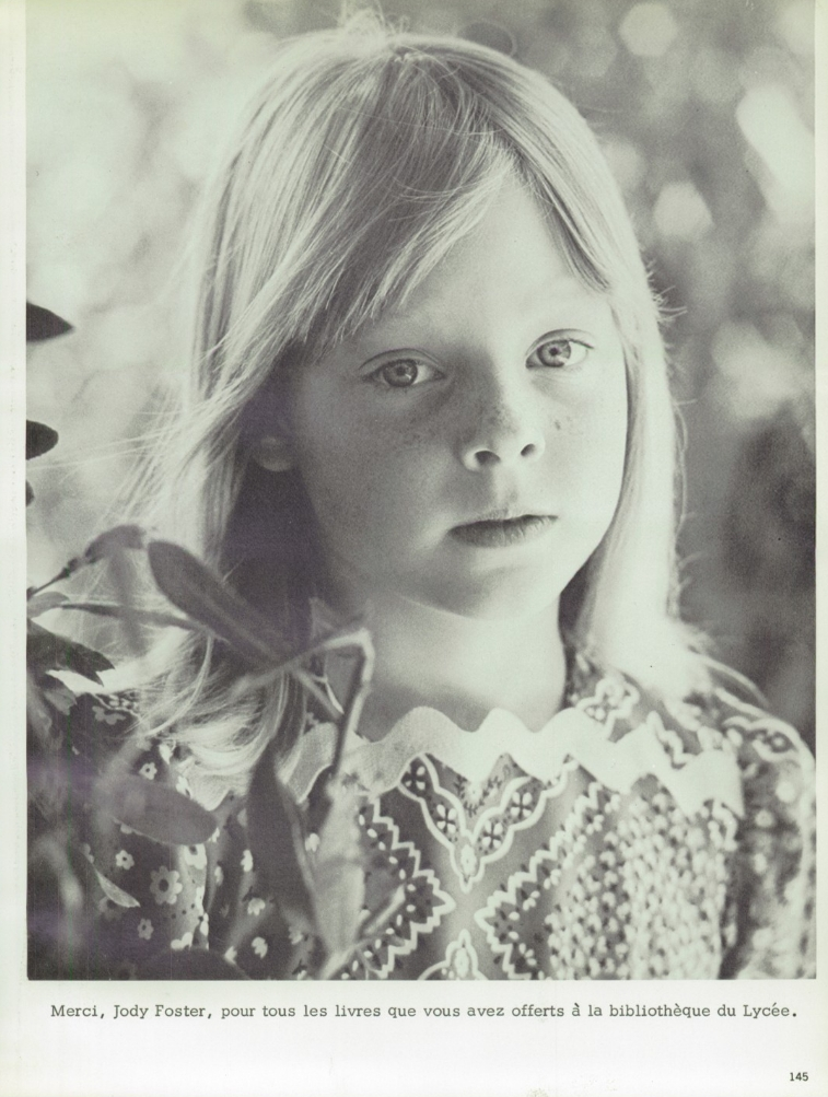 the jodie foster museum le lycée yearbook 1973