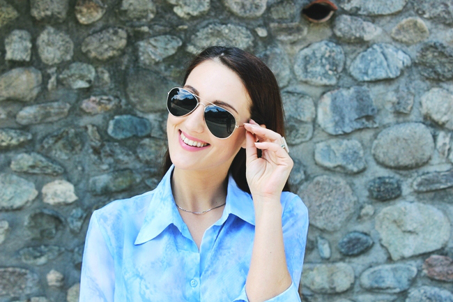 H&M aviator black sunglasses H&M naocare za sunce