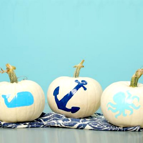 Coastal Living Painted Pumpkins