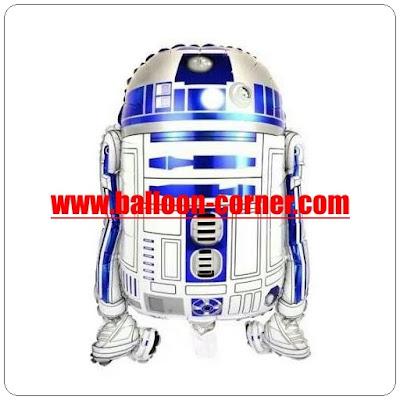 Balon Foil Robot Star Wars / R2D2 Robot