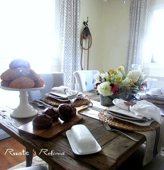 Farmhouse Tablescape for Summer @ Rustic-refined.com