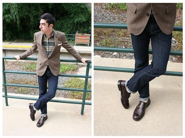Quần jean xanh nên kết hợp với giày da nam nào là đẹp?