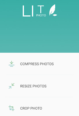 Compress & resize images using Lit Photo app