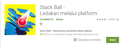 Download Games Stack Ball Ledakan melalui platform Apk Gratis