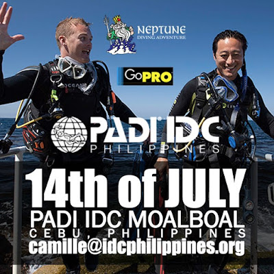 Next PADI IDC in Moalboal, Philippines starts 14th July 2016