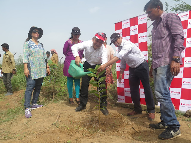 Canon reinforces commitment to a Green Future with a tree plantation drive in Gurgaon