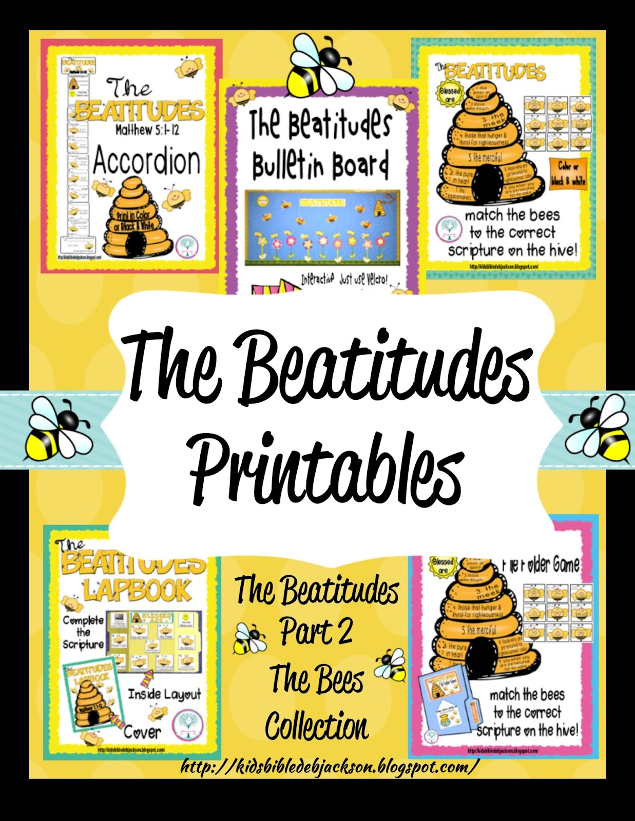 Bible Fun For Kids The Beatitudes Bee Attitudes Bulletin