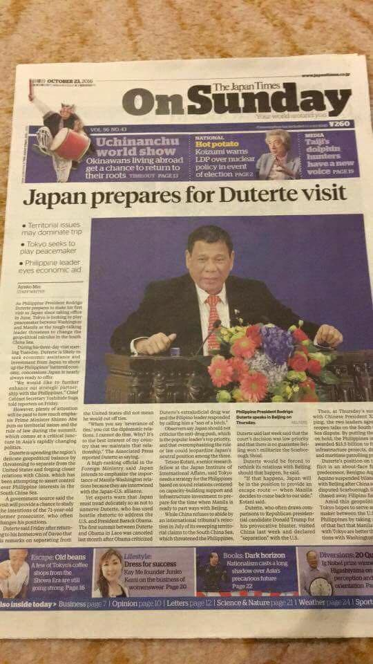 This Newspaper's Headline From Japan Will Prove How Much Other Countries Respect President Duterte! Must See!