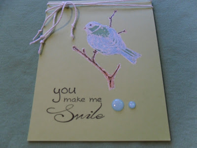 TWO PAPER DIVAS Design Team Card - Embosses Bird on a Limb