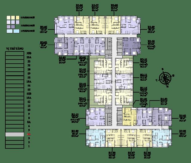 Mặt bằng tầng 5A chung cư Florence
