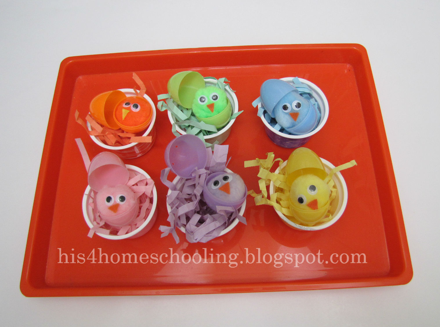 Easter Color Matching Tray (Photo from H is for Homeschooling)