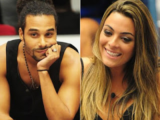Big Brother Brazil housemate Daniel Echaniz (left) 'raped' Monique Amin (right)