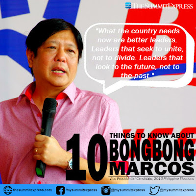 10 Things To Know About VP Candidate Bongbong Marcos