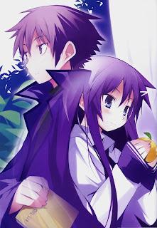 Gambar Hanbun no Tsuki ga Noboru Sora
