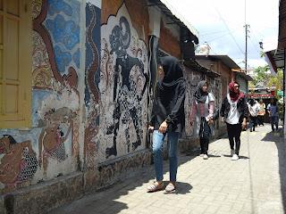 Dinding lukis Sanggar Kalpika Yogya