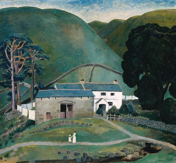 Listaverk: Dora Carrington, Farm at Watendlath, 1921, Tate