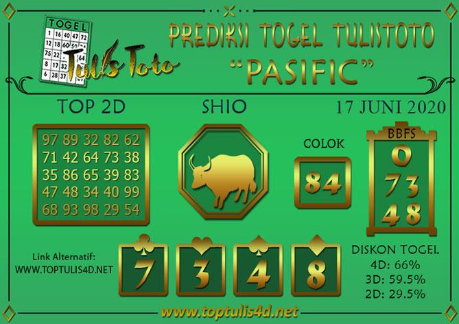 Prediksi Togel PASIFIC TULISTOTO 17 JUNI 2020