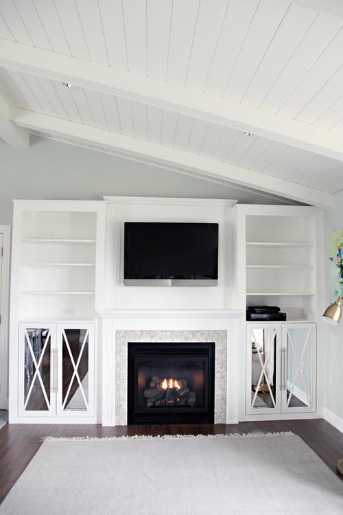 IHeart Organizing: DIY Fireplace Built-In Tutorial