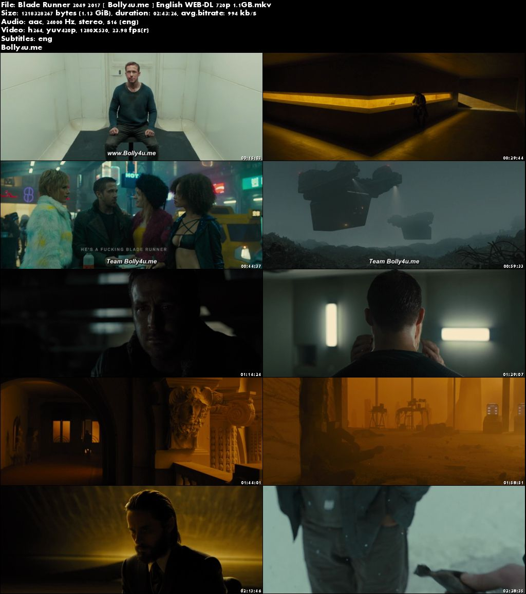Blade Runner 2049 2017 WEB-DL 450MB Full English Movie Download 480p