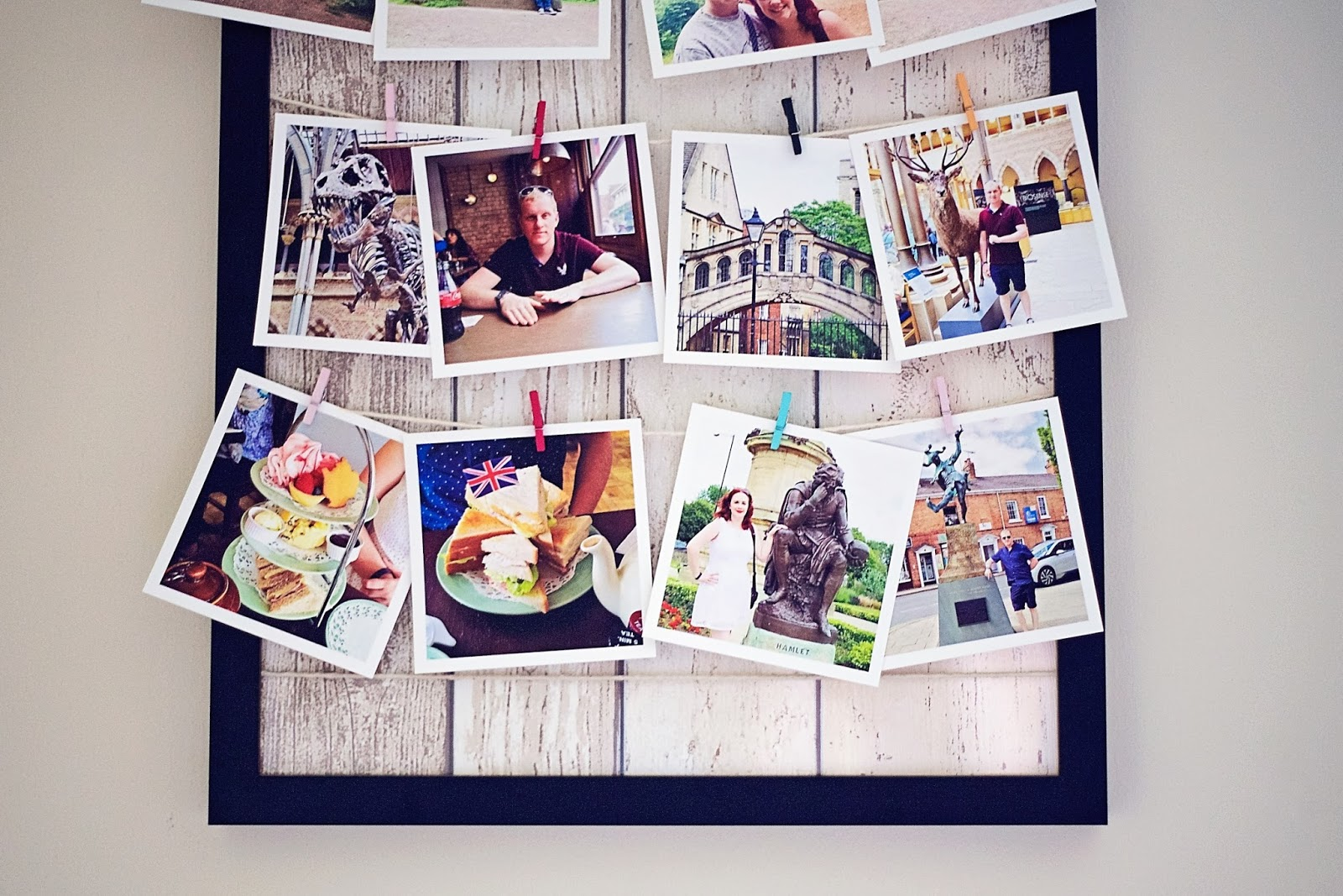 Finished washing line photo frame