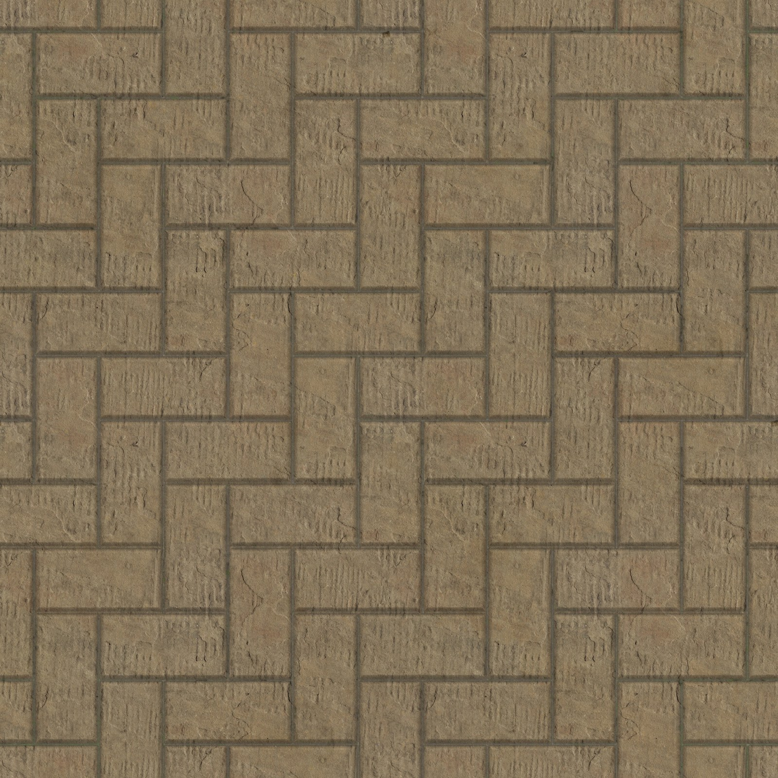 Brick stone floor pavement seamless texture 2048x2048