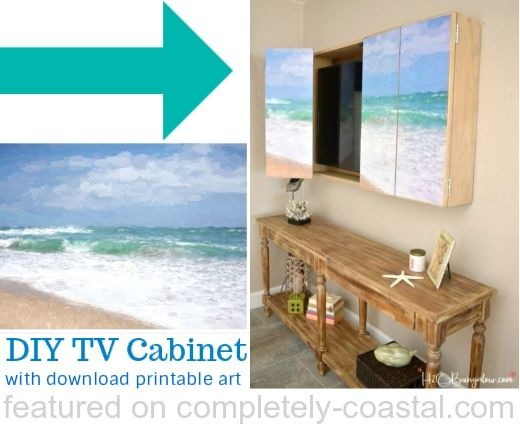 How to Mount Coastal Art on Cabinet Doors