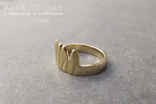 Bague doré Eshop Anne Thomas Nouvelle collection