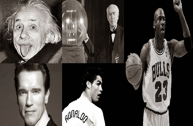 Arnold Schwarzenegger, Cristiano Ronaldo, Michael Jordan, Albert Einstein, Thomas Edison, Beat Talent, Consistency, Persistence, Beliefs, Success, Inspirational, Examples, Motivational, Personal Development, Skills, Self-improvement