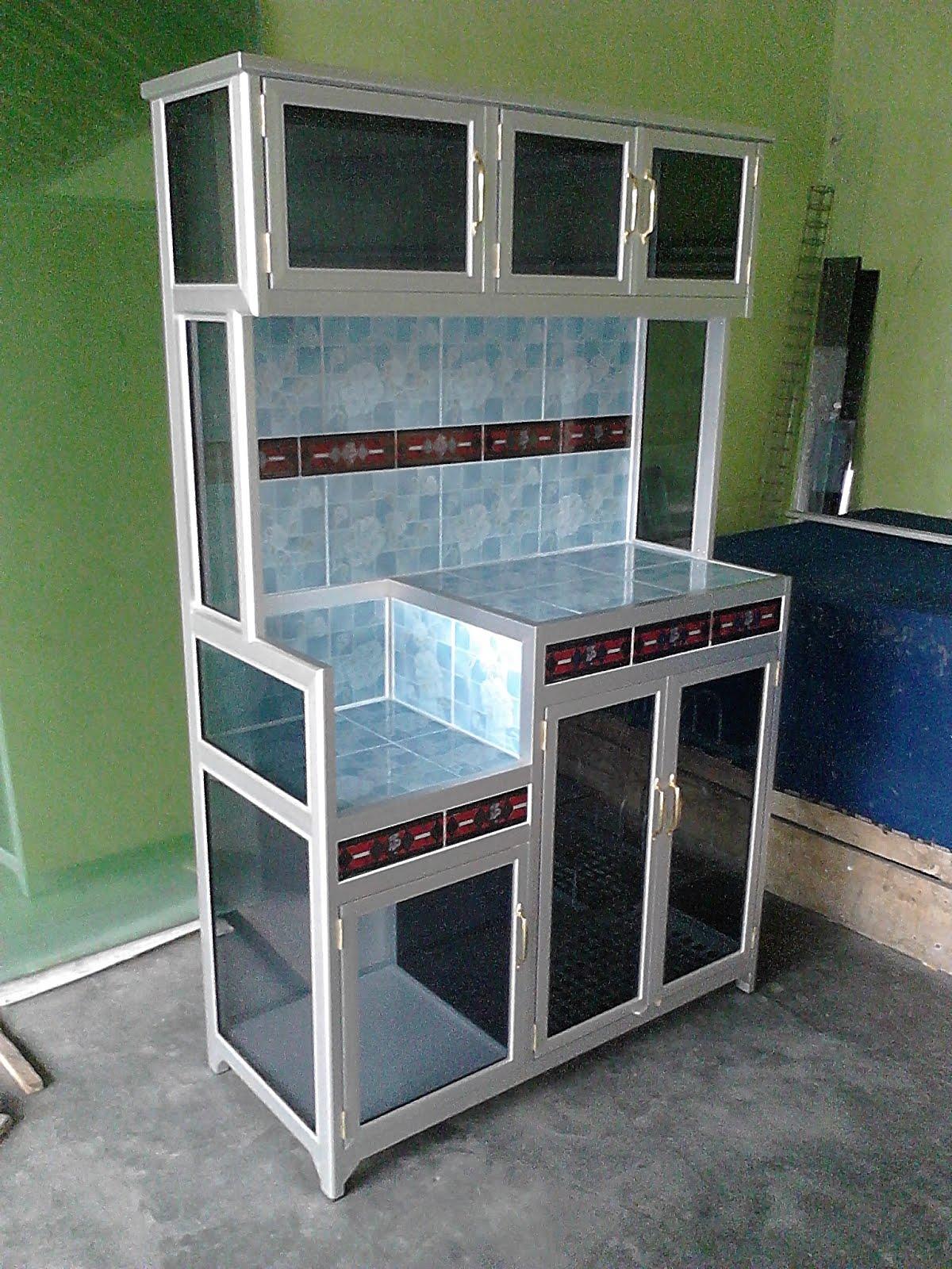 Jual rak piring aluminium 085695759401 area kediri jual for Lemari kitchen set aluminium