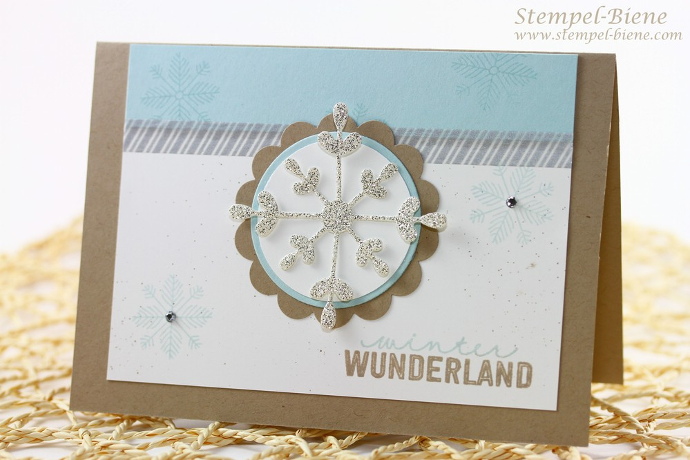 Stampin Up Thinlits Formen Schneekristalkarte, Stampin Up Winterkarte, Stampin Up Project Life Dezembertage, Stampin Up Sale a bration 2015, Stampin Up Sammelbestellung, Match the Sketch
