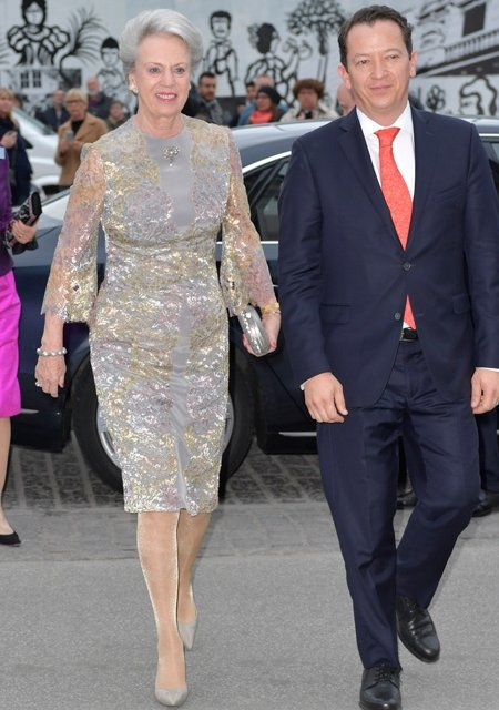 Crown Prince Frederik and Crown Princess Mary, President Enrique Pena Nieto, and his wife Angelica Rivera, Queen Margrethe, Prince Consort Henrik, Prince Joachim, Princess Marie and Princess Benedikte  attends a return dinner at The Hotel D'Angleterre