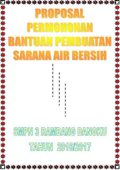 gambar cover Proposal Permohonan bantuan Pembuatan Sarana Air Bersih