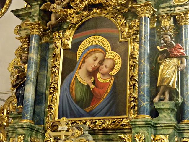 rzeźby, Sobin, kościół, złocenia