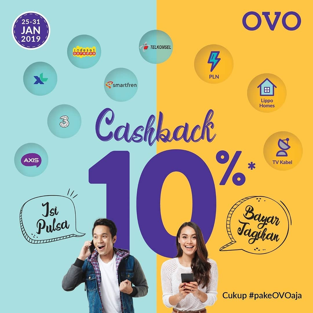 #OVO - #Promo Produk Virtual Cashback 10% Hingga 10K Poin (s.d 31 Jan 2019)