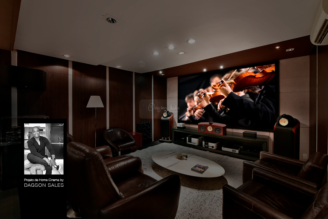 Inspire-se nesses 10 projetos de home theater assinados por Dagson Sales