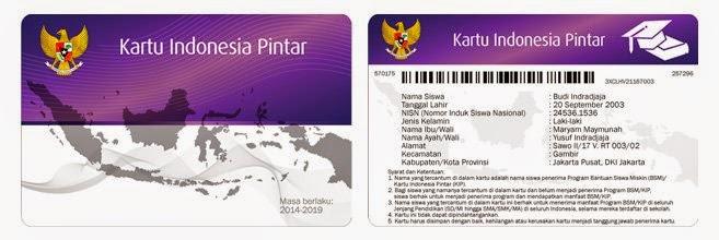Tampilan Kartu Indonesia Pintar