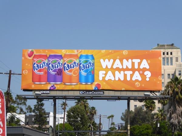 Wanta Fanta soda billboard