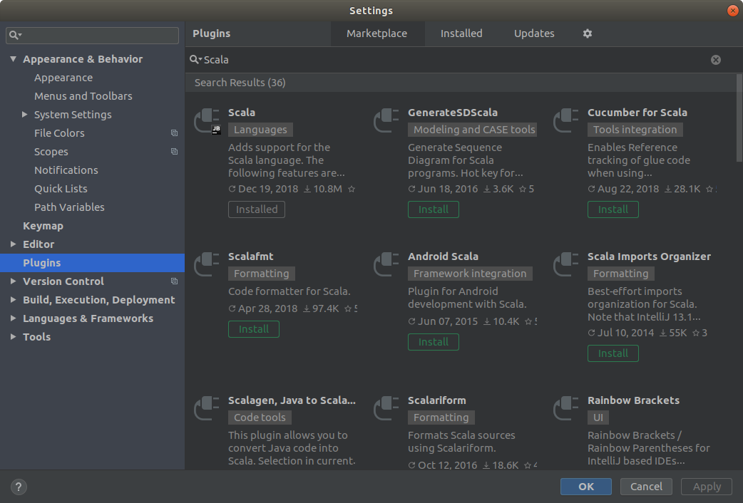 Setup Scala on IntelliJ IDEA