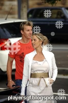 Brett Lee and his ex-wife Elizabeth Kemp images