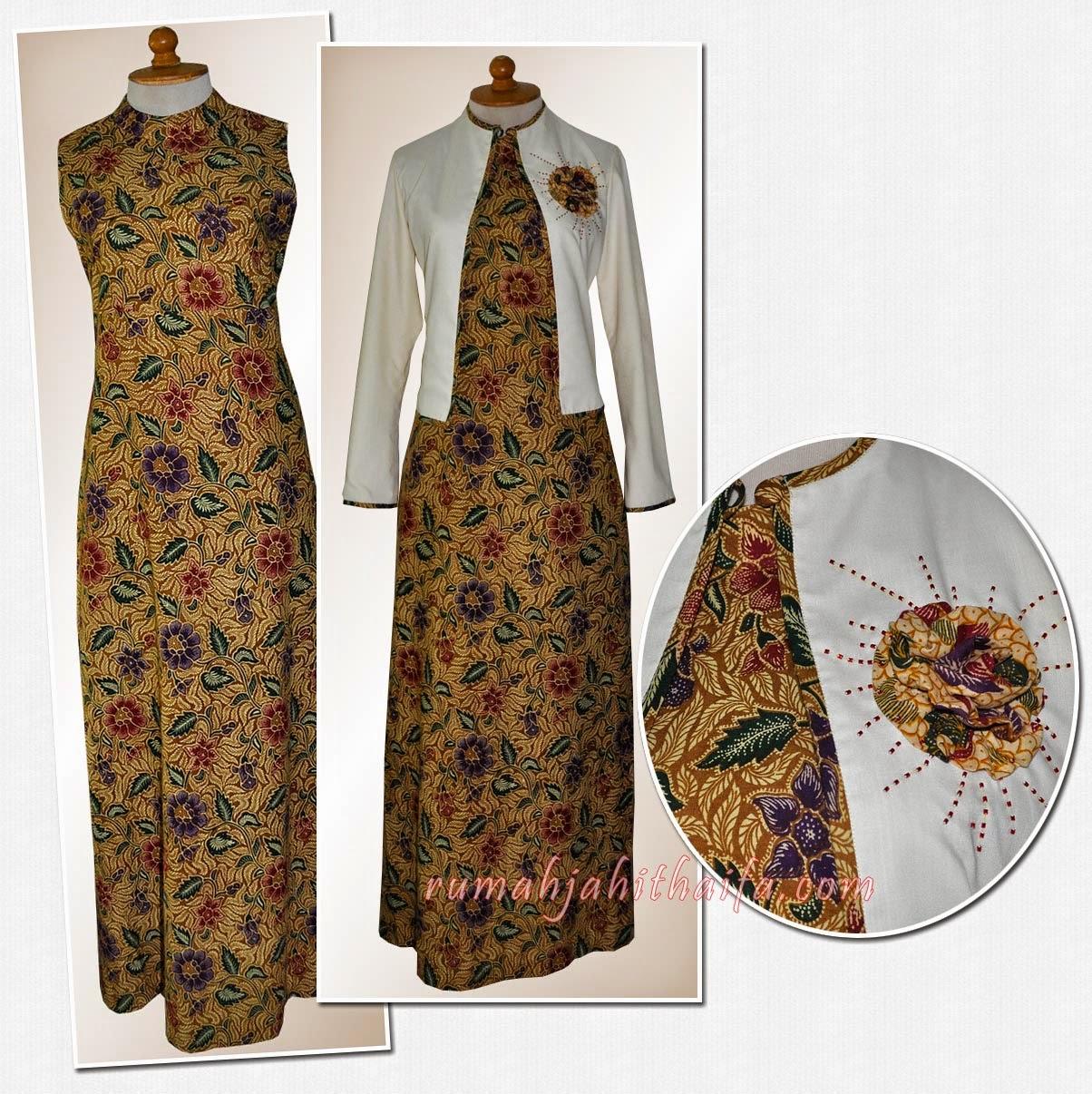 Contoh Baju Gamis Batik Remaja