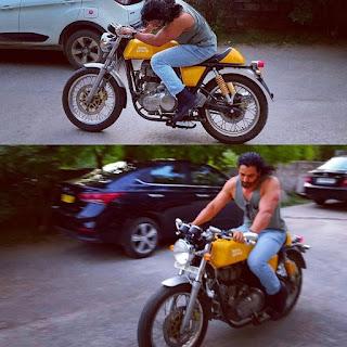 Harshvardhan Rane Riding Bike