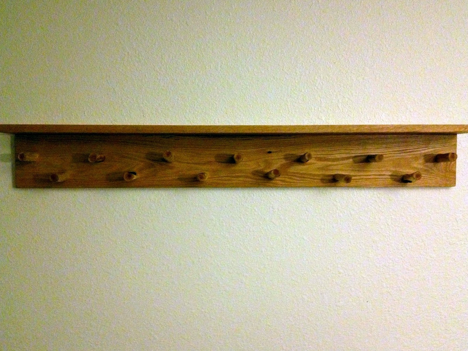 The Modern DIY Life: DIY Wall Hanging Coat Rack