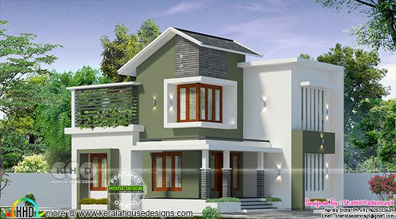1275 sq-ft 2 bedroom budget friendly mixed roof home