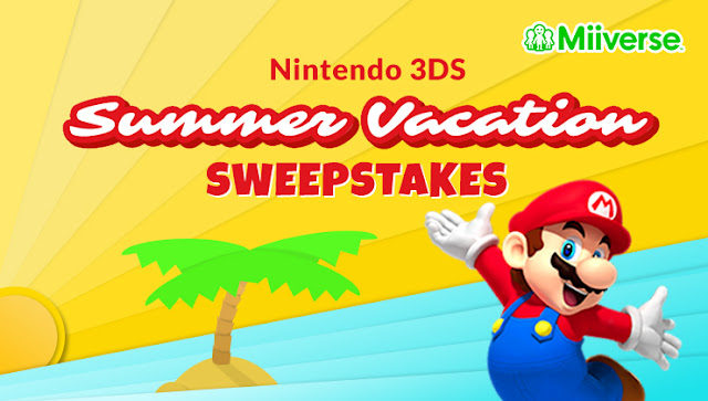 Tell Nintendo how their 3DS games & systems would make your summer vacation better for a chance to win a Nintendo 2DS system and six great Nintendo 3DS games!