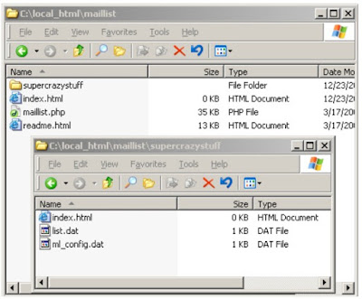 Download phpmail list and Unzip the Archive