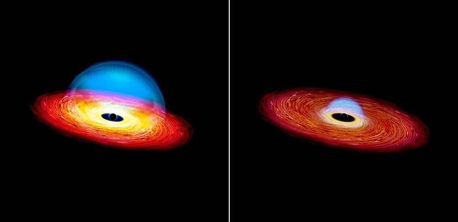 Yale University astronomers accept identified the starting fourth dimension  Black Hole on a Diet Creates a 'Changing Look' Quasar