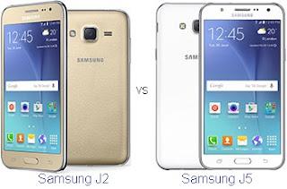 Samsung Galaxy J2 vs J5 Harga dan Spesifikasi
