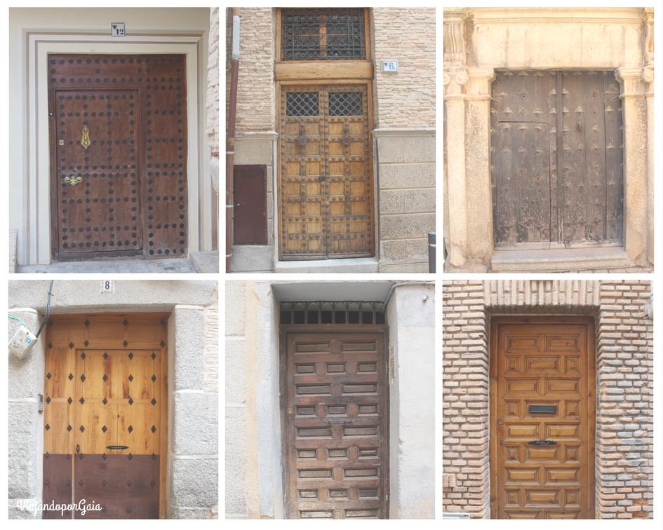 Collage de los diferentes estilos de puertas de Toledo.