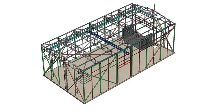 Framework with crane free 3D model #100082