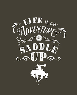LostBumblebee ©2016 MDBN : Saddle Up : Printable, Home Decor, PERSONAL USE ONLY, Donate to download